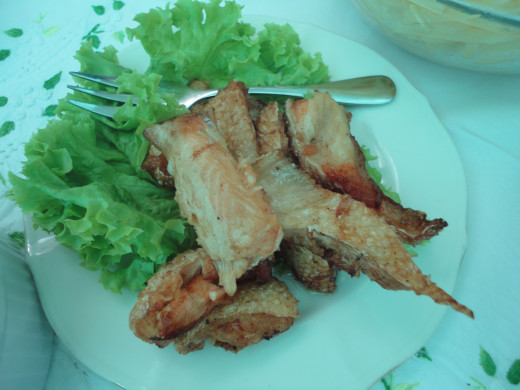 Fried Salmon Belly