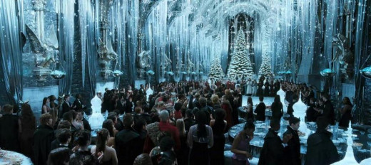 The Great Hall, Yule Ball scene in the Goblet of Fire.