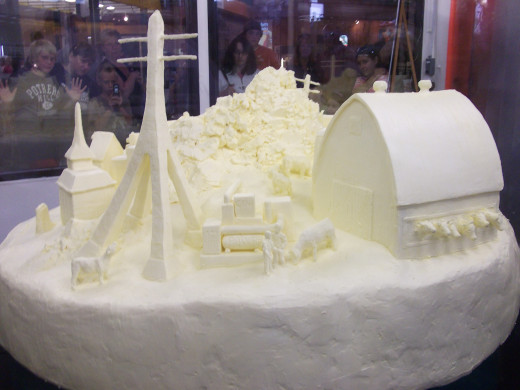 The butter sculpture at the NYS Fair.