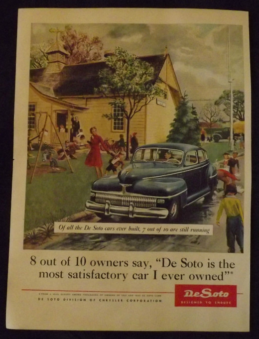 1945 De Soto Vintage Print Ad