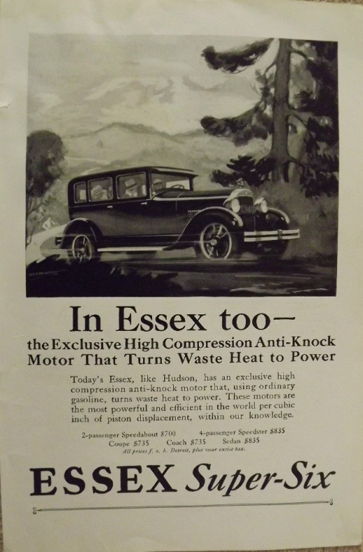1927 Essex-Six Vintage Print Ad