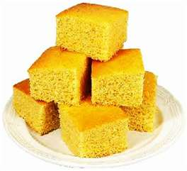 This cornbread is too thick, not baked in iron skillet, not browned properly and is pale -- looks like cake!