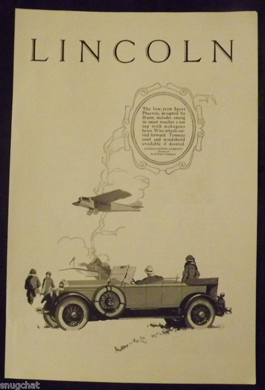 1926 Lincoln Vintage Print Ad