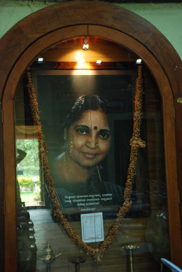 Portrait of Mrs. Yashodha Khandoba Rao, the inspirer, beautifully placed at he center of 'Nenapu' annexe building