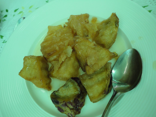 Fried Sweet Potato in Syrup