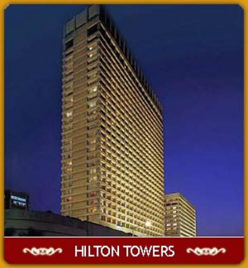 Hilton hotel and Towers-Facing sea, Beautiful hotel and my amazing internship memories.