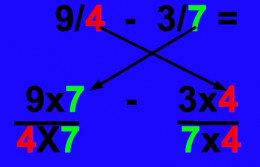 5 easy steps to subtract fractions
