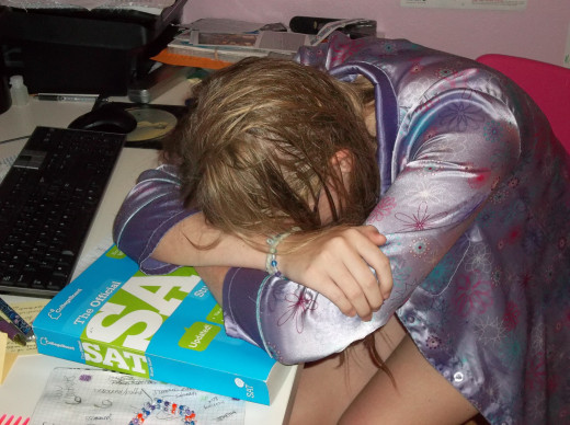 Studying all night just makes you a wreck.