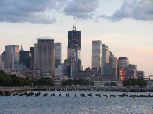 Picture of The Lower Area of Manhattan, New York City.  The Original New Amsterdam Dutch Settlement Was In This Area.