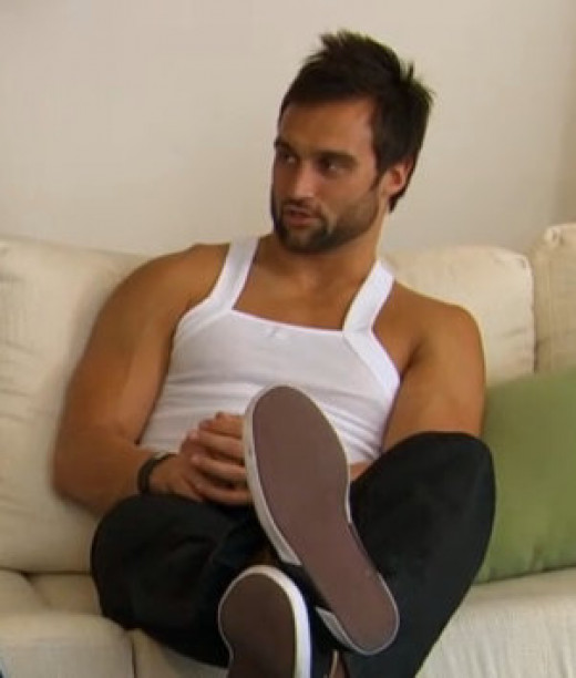 Ryan and his sports bra on The Bachelorette