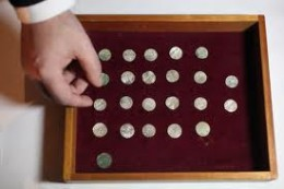 Coins from Silverdale on display