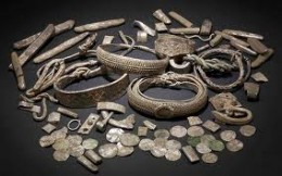 An assembled display from the Silverdale hoard found in September, 2011