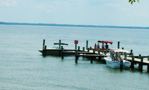 Visitors may dock their boats at St. Clement's Island.