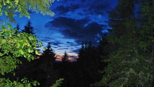 Dusk often produces dramatic orb photos over Oregon Orb House