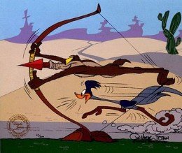 Just as Wile E Coyote never catches the Road Runner, works will never gain you Salvation. You will fall short every time.