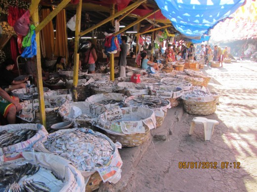 Dried seafood at Taboan Market