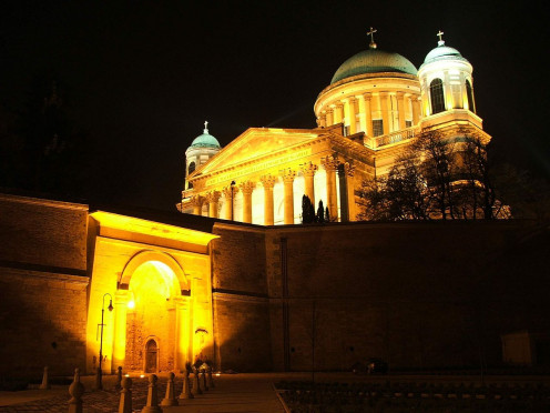 Esztergom Bascilica at Night