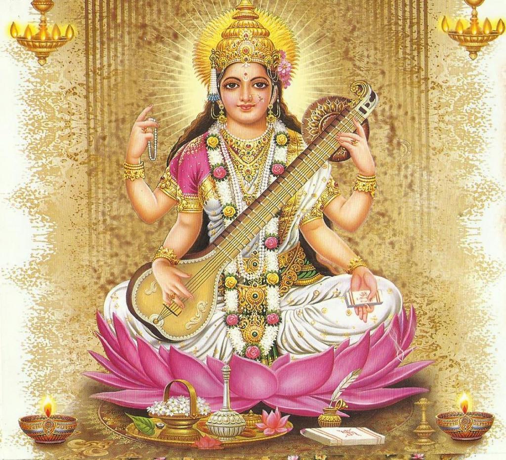 Mantra Goddess Saraswati Goddess Knowledge on Learning About Hinduism Hindu Gods And Goddesses