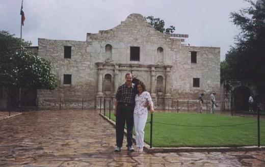My Honey and me at The Alamo - San Antonio