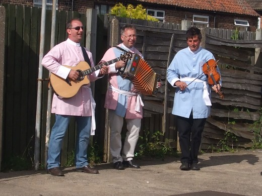 Concertina, fiddle and sometimes guitar, too, accompany the long sword dancers