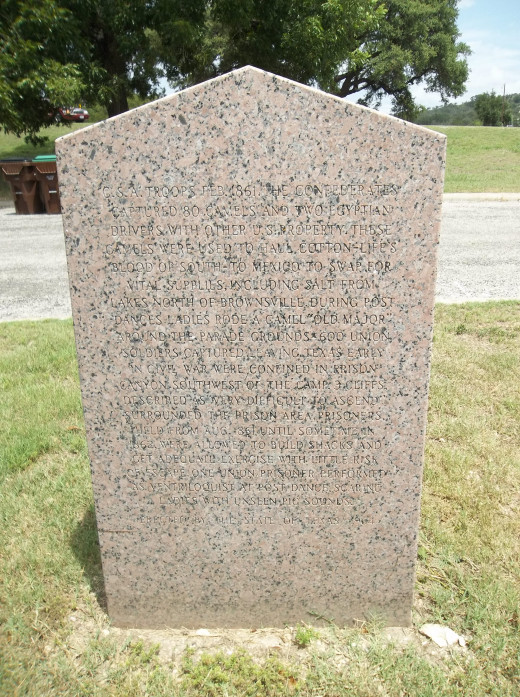 Granite memorial at Camp Verde, Texas