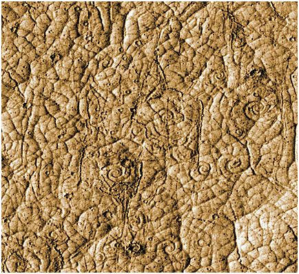 Mars photo shows traces of coiled lava flow