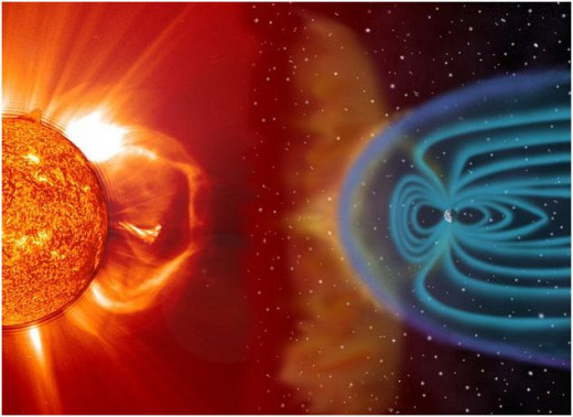 Sunspot activity and the Earth's geomagnetic shield