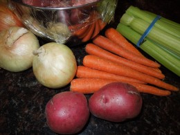 Onion, Potato, Carrot and Celery