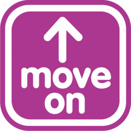 """Six letters, two words, easy to say, hard to explain, harder to do, """"Move On"""""""