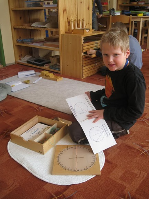 Montessori Education allows freedom for children to explore their different abilities.