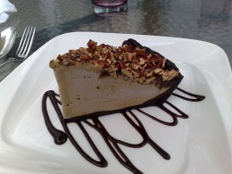 A different version of Mississippi Mud Pie with Chocolate drizzles.