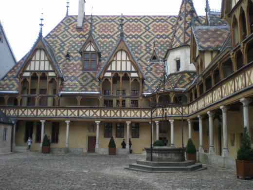 The Hospices de Beaune as seen from the courtyard.