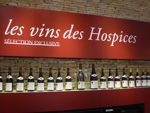 The wine sold in the Hospices' gift shop