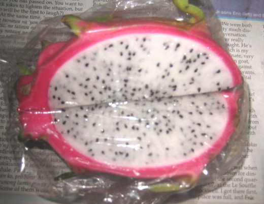 The fleshy part of Dragon Fruit