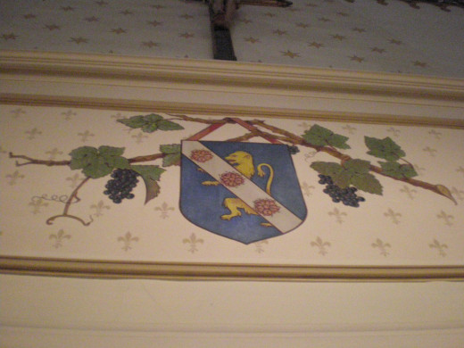 Decoration on the wall of the Hospices de Beaune