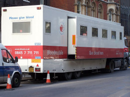 The Mobile Blood Bank, tours the country collecting donations.