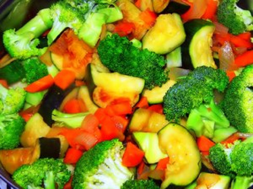 Vegetables are very filling.
