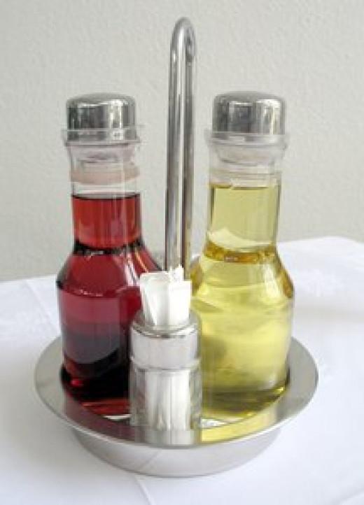 Use oil and vinegar salad dressing.