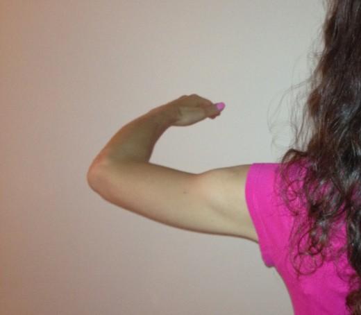 Follower's left arm