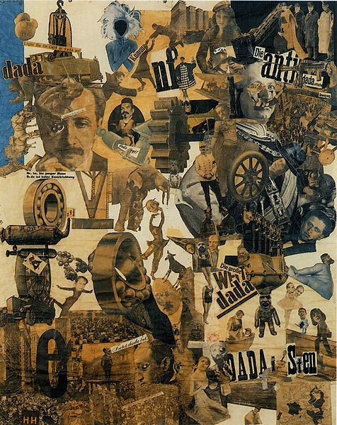 """""""Cut with the Dada Kitchen Knife through the Last Weimar Beer-Belly Cultural Epoch in Germany"""" - a photomontage and example of Dada; even the Title of the work is clearly a work of Dadaism"""