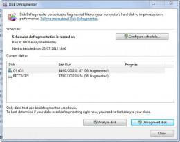 Windows disk defragmenter.
