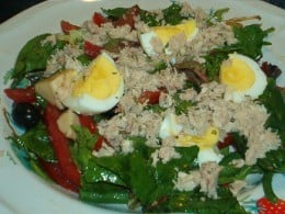 Salad nicoise is a full meal in itself!