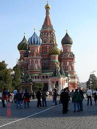 St. Basil Cathedral in Moscow, Christian Orthodox place of worship, it was built on order by Ivan the Terrible 1555-61