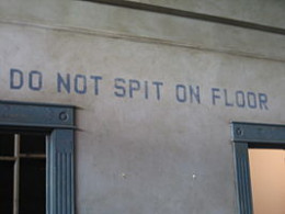 How about, just don't spit anywhere, that's even better advice.