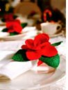 Poinsettia Napkin Ring