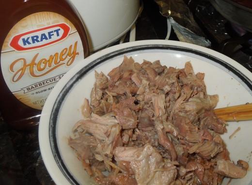 Pork Leg Meat and Honey BBQ Sauce