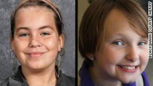 Two girls,10 yr.old Lyric Cook and 8 yr. old Elizabeth Collins were cousins and seemed to simply vanish from Evansdale, Iowa on July 13, 2012.
