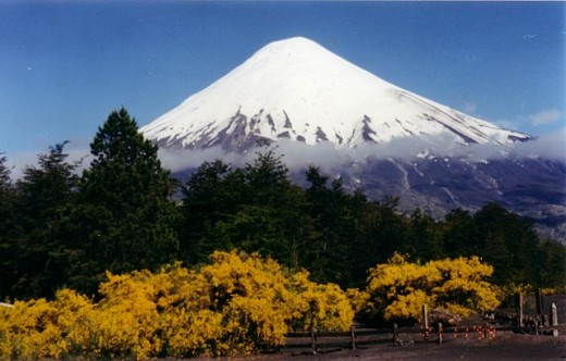 The majetic Osorno Volcano presides over much of the area.