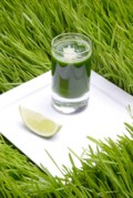 Barley Grass Powder can be mixed with juice for an easy alkaline boost.