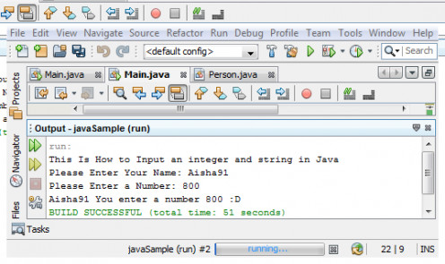 "Java Source Code ""Example2"" Output"